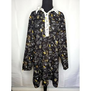 ZARA TRAFALUC From Another Planet Scribble Dress